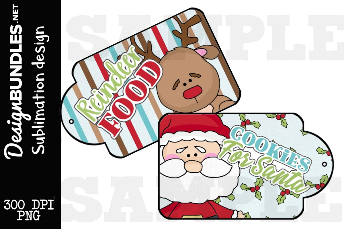 Christmas Duo Tag SetSublimation Design example image 1