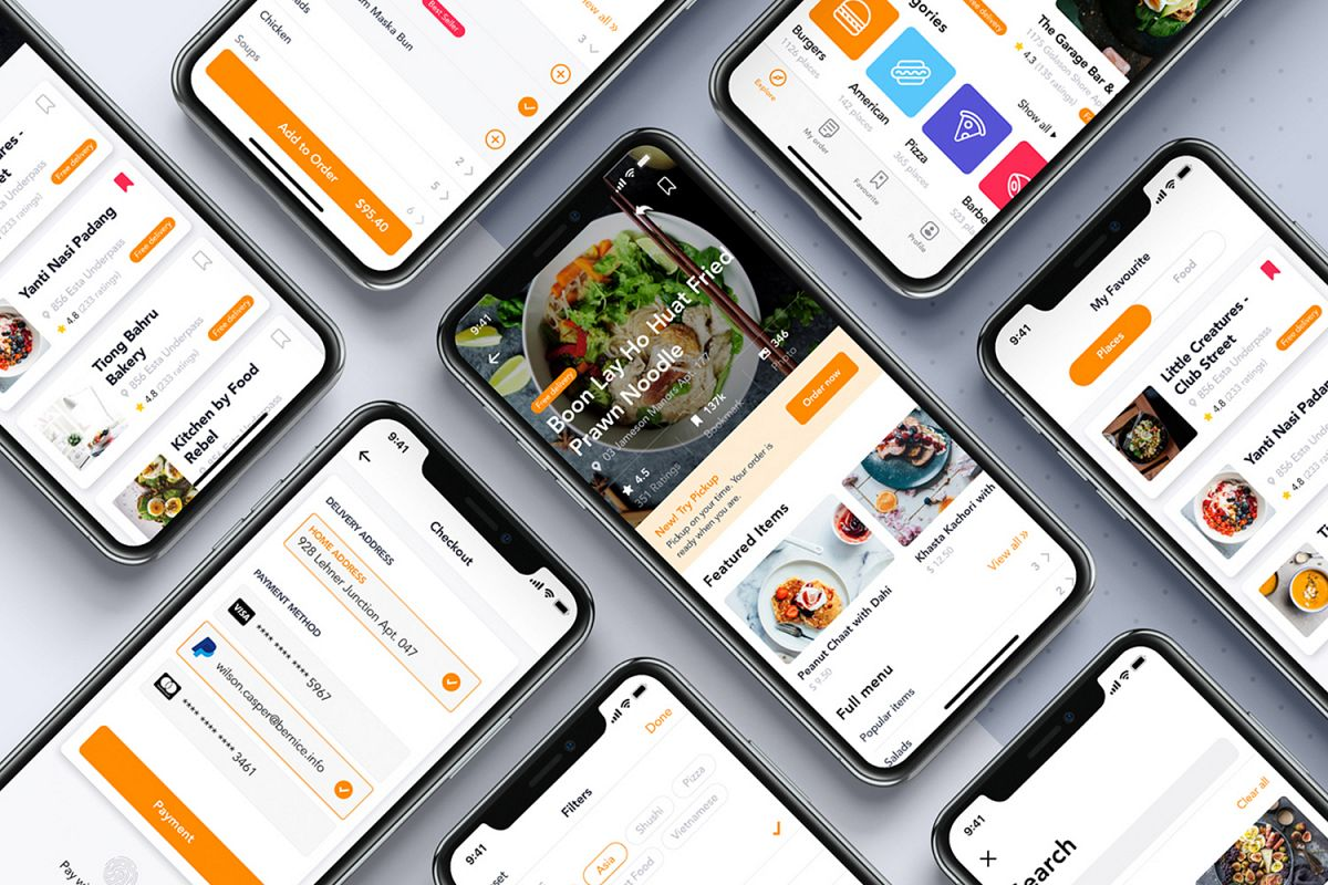 Fozzi - Food Delivery App UI Kit example image 1
