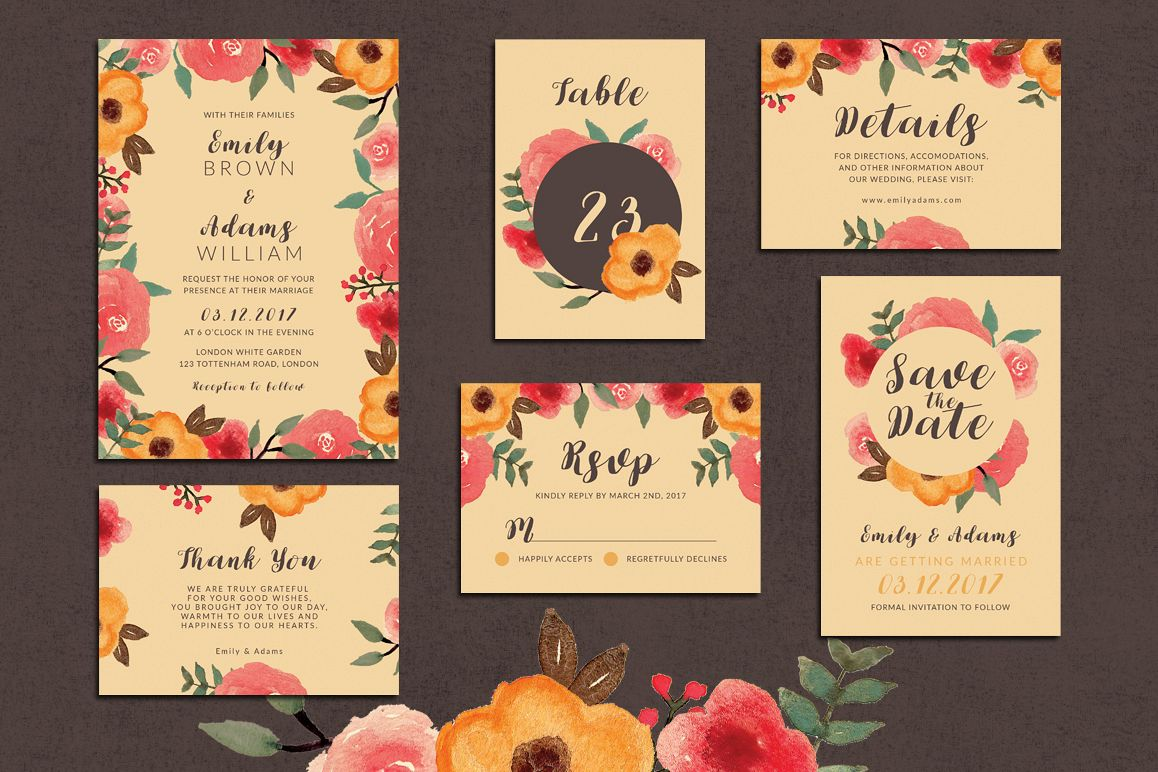 33% Off! Tropical Wedding Invitation Suite example image 1