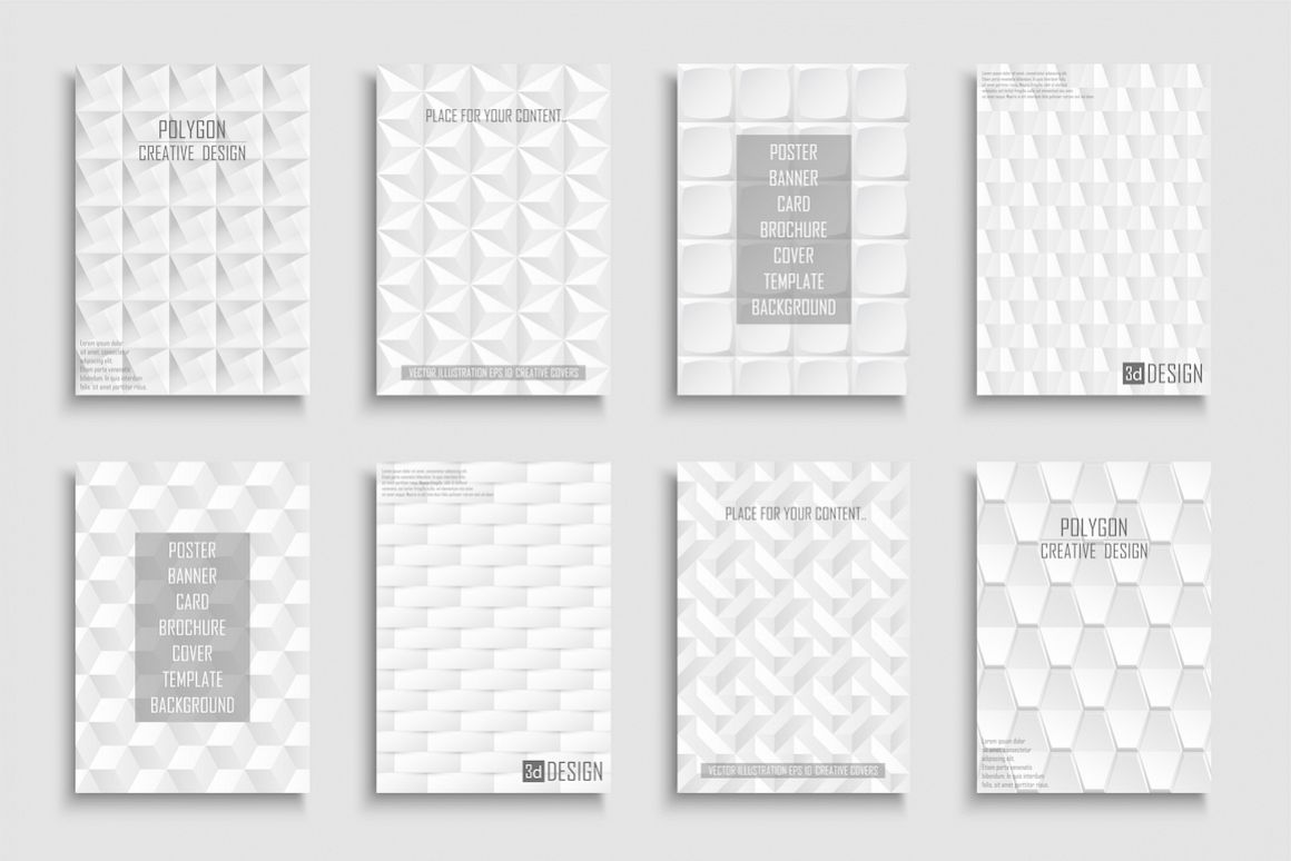 White abstract geometric posters example image 1