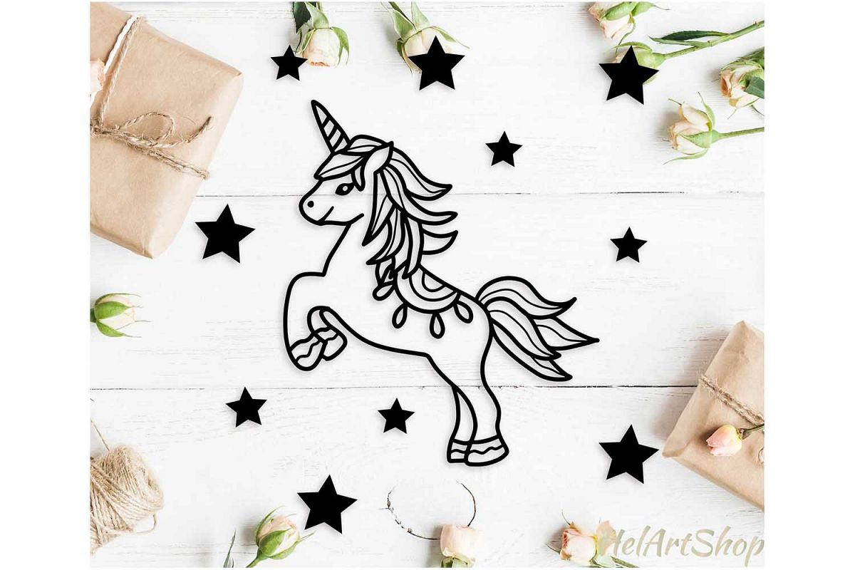 Unicorn svg, baby unicorn svg example image 1