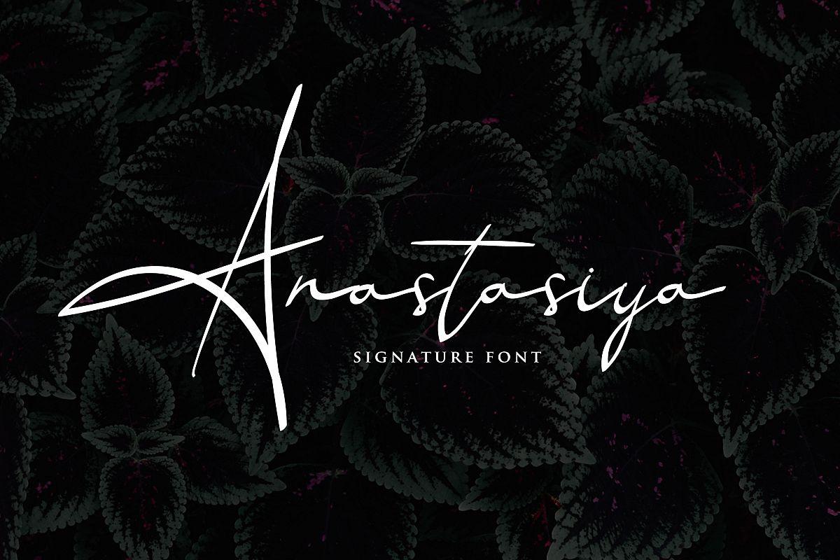 Anastasiya Elegant Signature Font example image 1