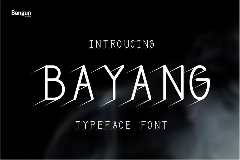 Bayangan font example image 1