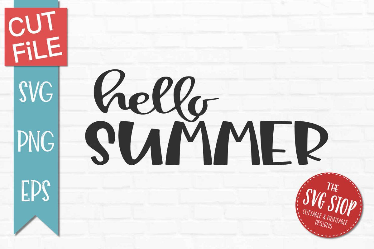 Hello Summer-SVG, PNG, EPS