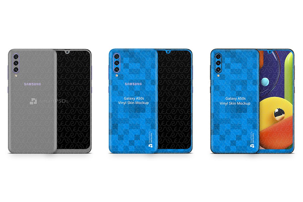 Galaxy A50s 2019 PSD Skin Mockup Template example image 1