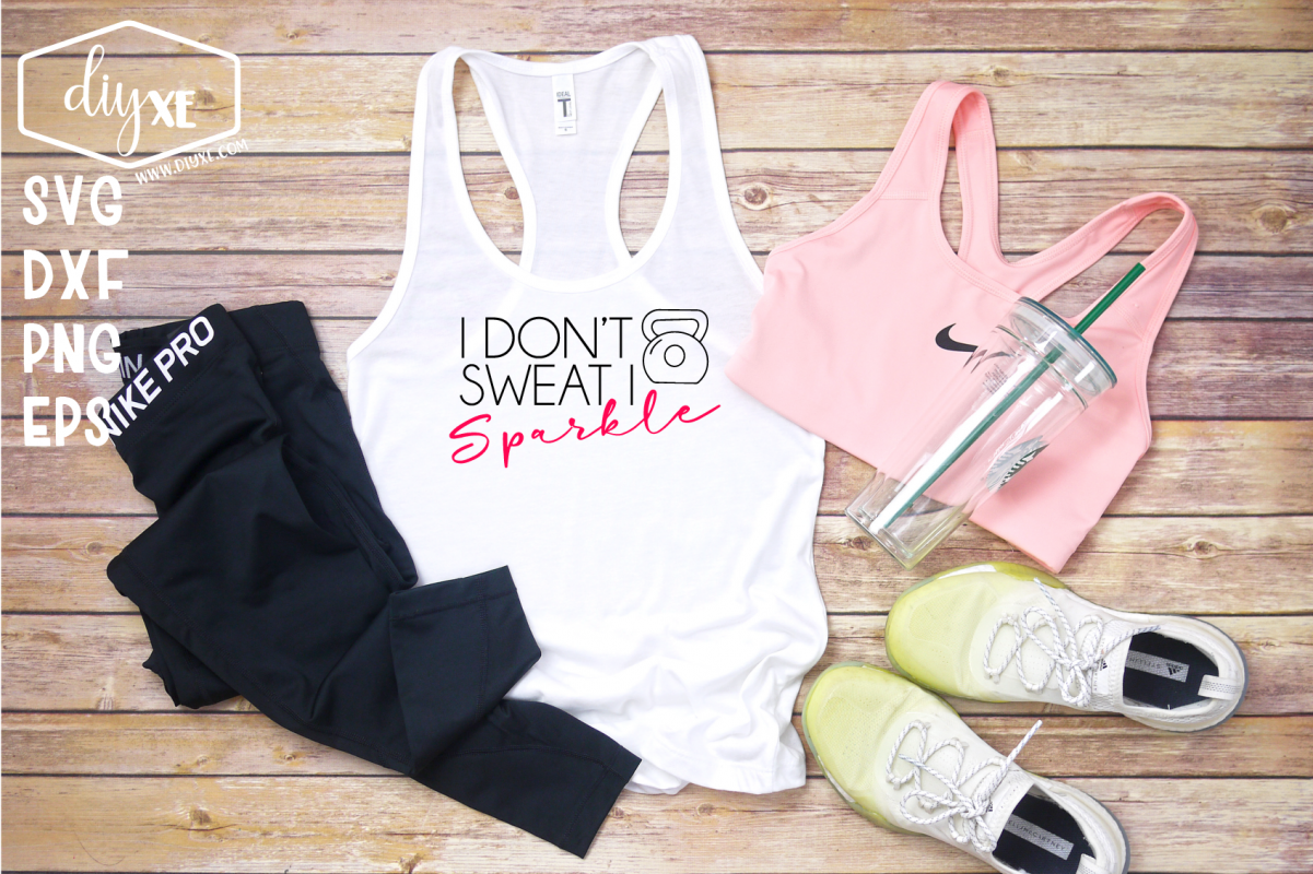 I Don't Sweat I Sparkle - A Fitness SVG Cut File example image 1