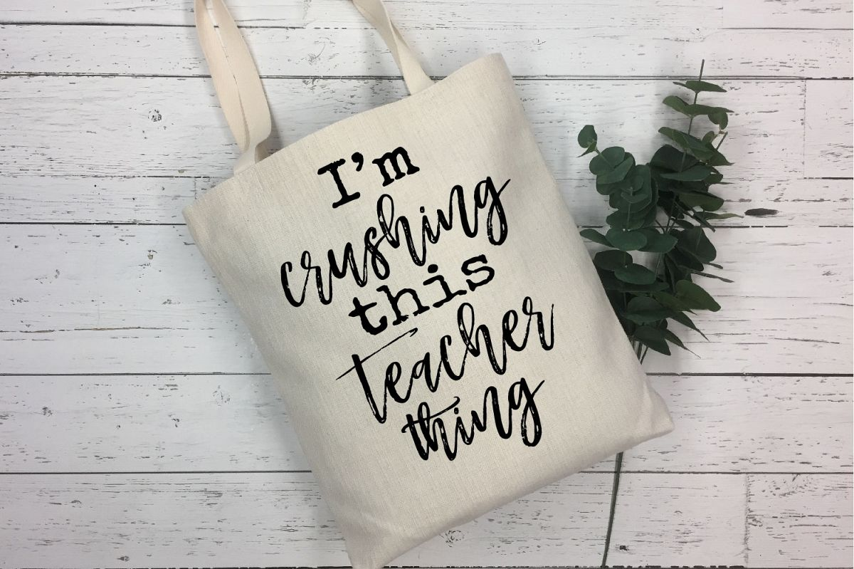 I'm Crushing This Teacher Thing SVG, Teacher Sublimation example image 1