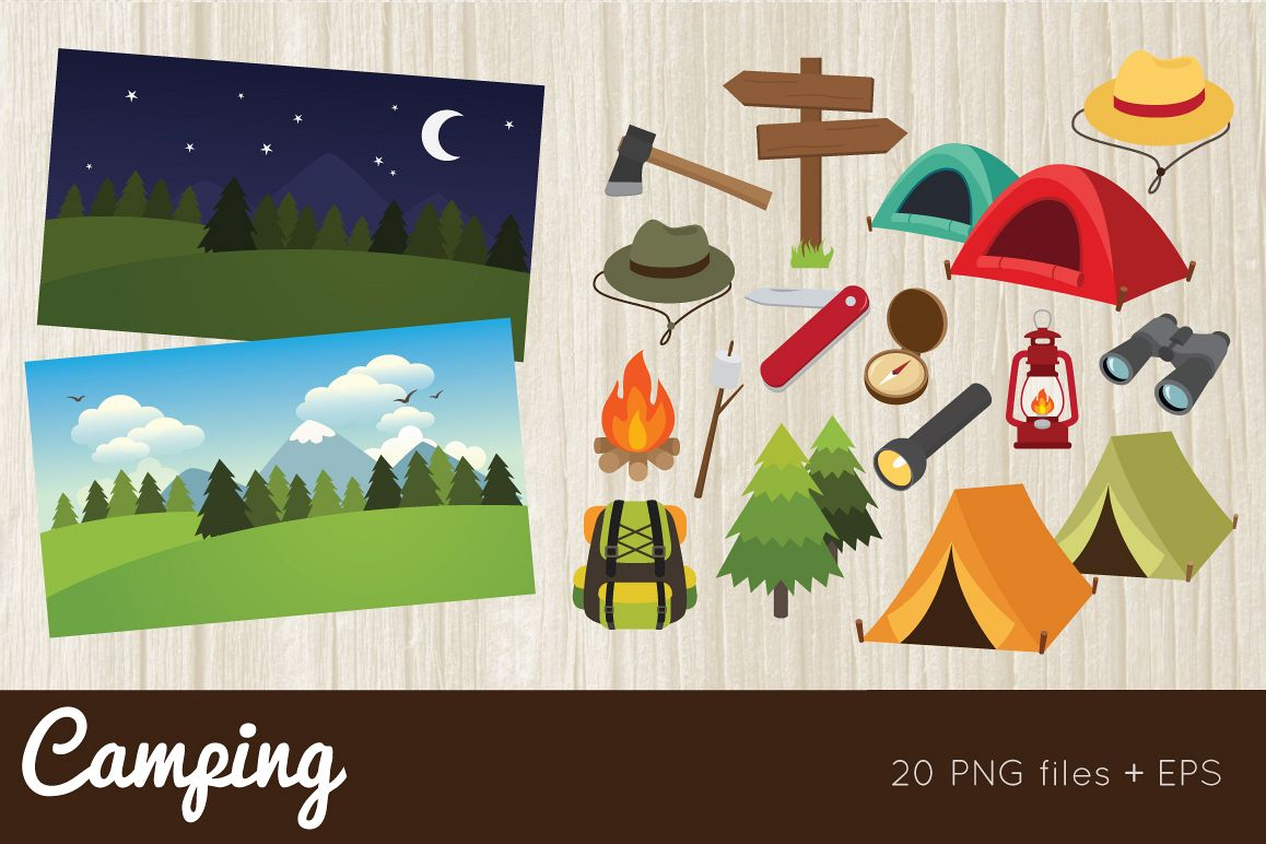 Camping Clipart example image 1