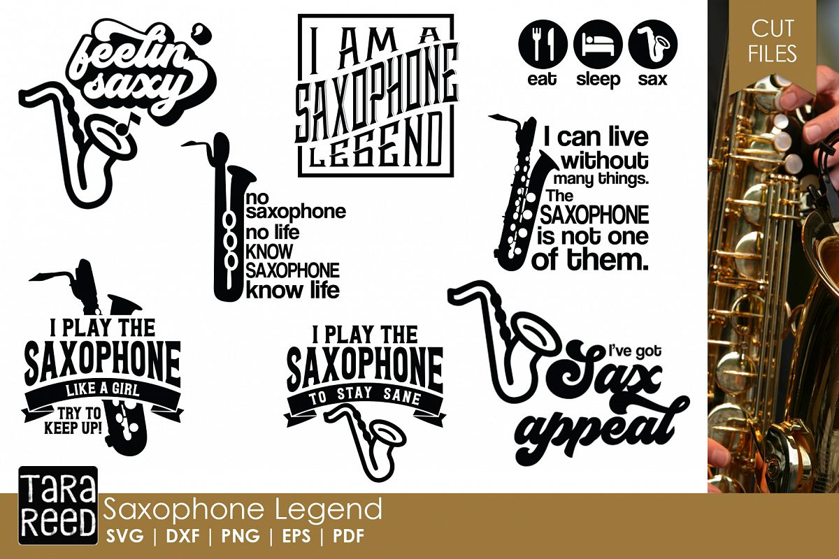 Saxophone Legend - Saxophone SVG & Cut Files for Crafters example image 1