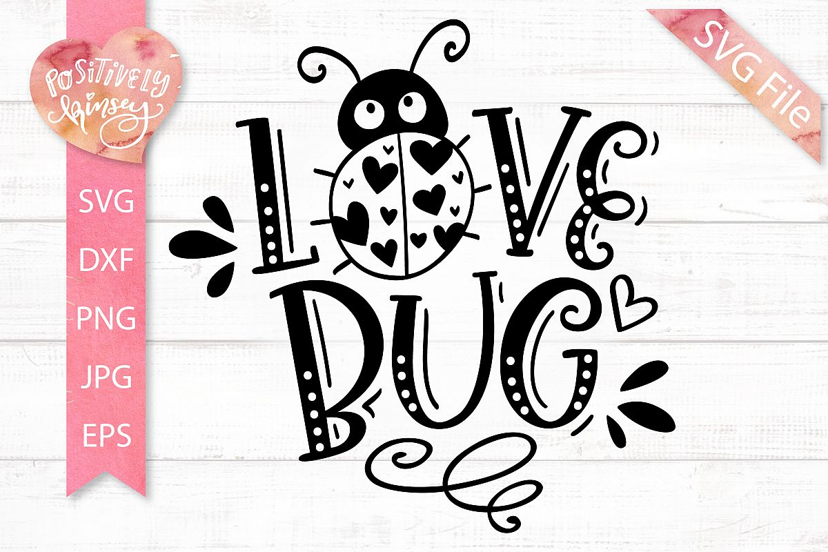 Love Bug SVG, Kids Valentine SVG for Baby & Toddler Shirts! example image 1