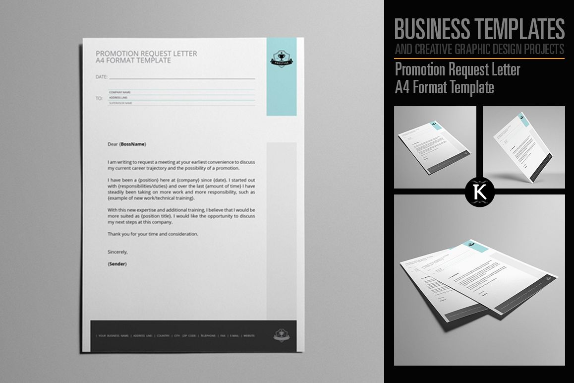 promotion request letter a4 format template example image 1