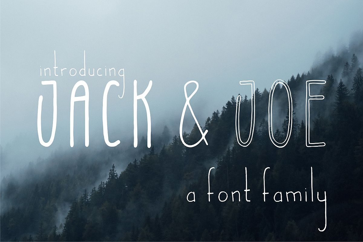 Jack and Joe font family example image 1
