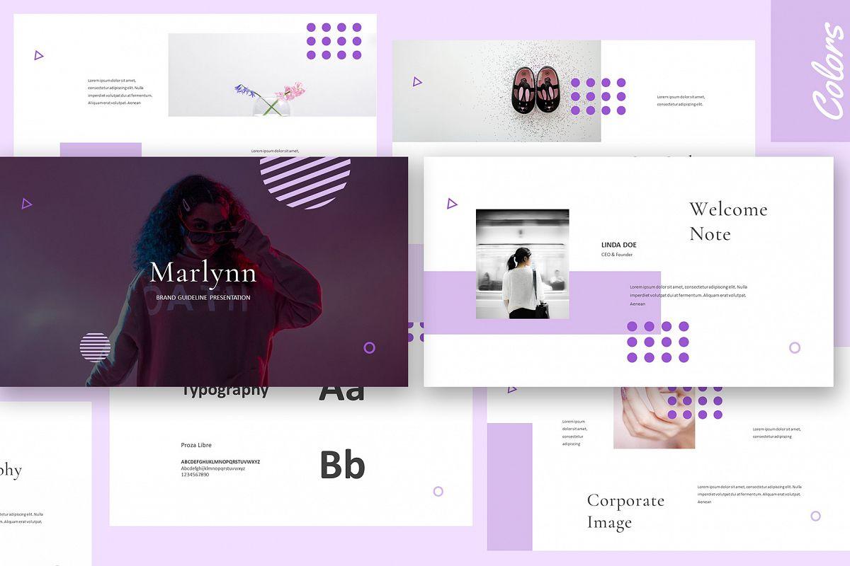 Marlynn Brand Guidelines Keynote example image 1