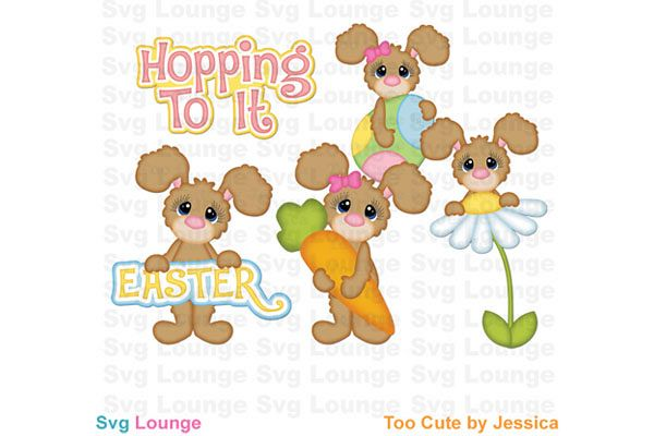 Easter Hop To It SVG Cut File example image 1