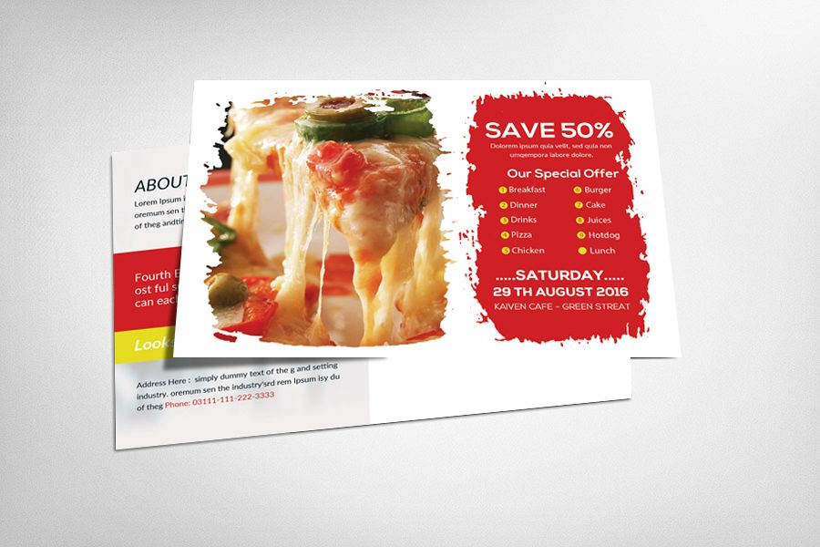 Dominos Post Card Template example image 1