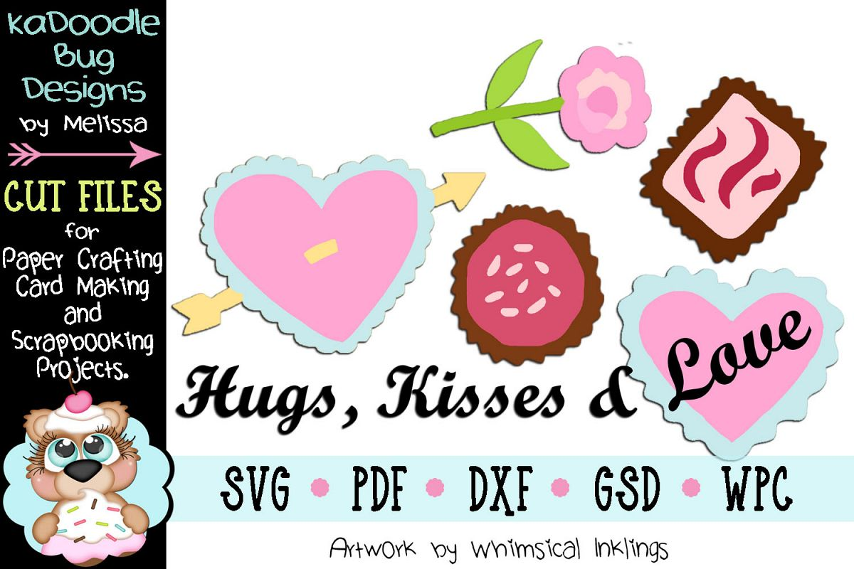 Valentine Chocolate Hearts Cut File - SVG PDF DXF GSD WPC example image 1