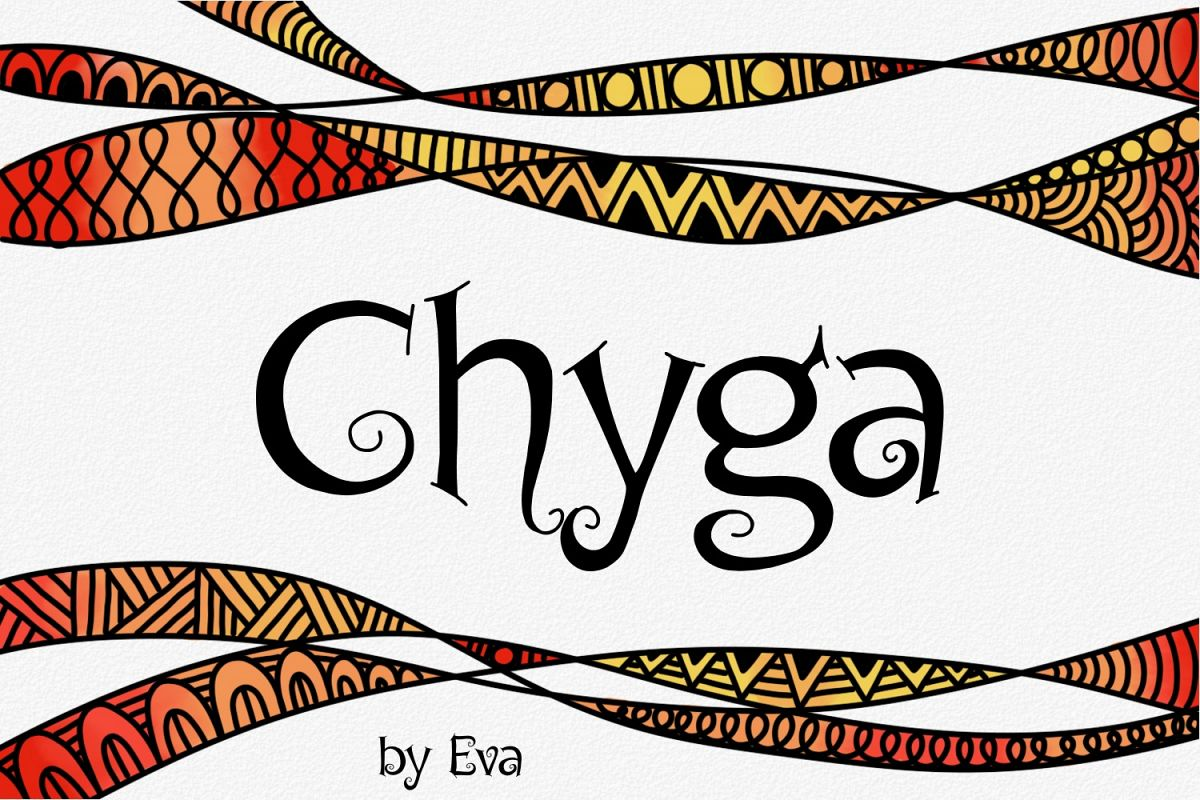 Chyga Font example image 1