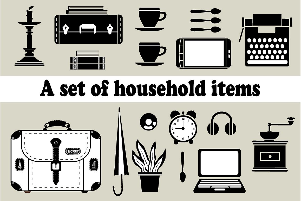 Household vector  example image 1