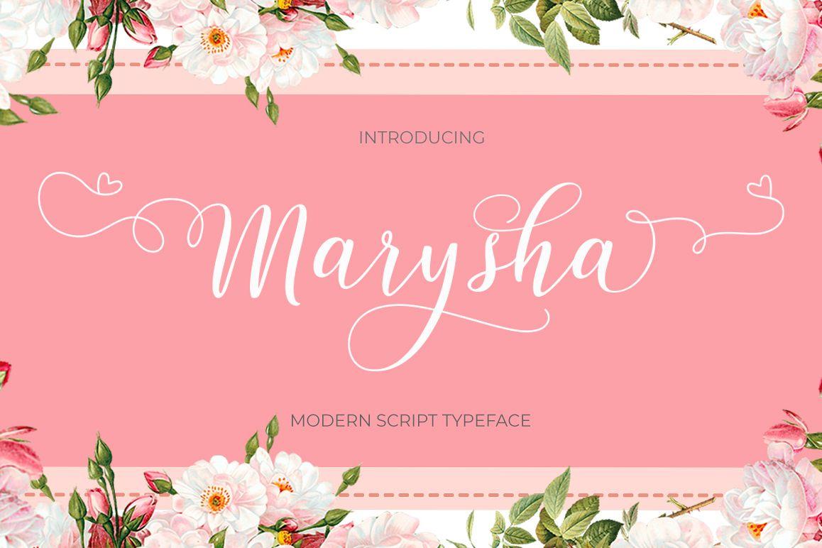 Marysha Script example image 1