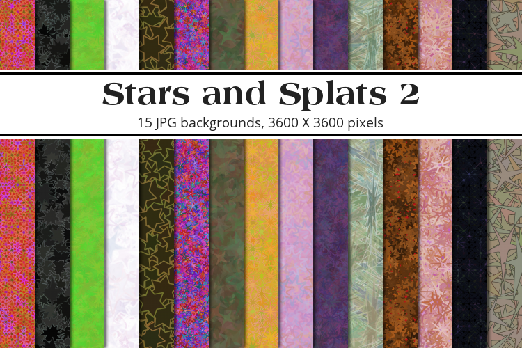 Stars and Splats 2 Background Pack example image 1