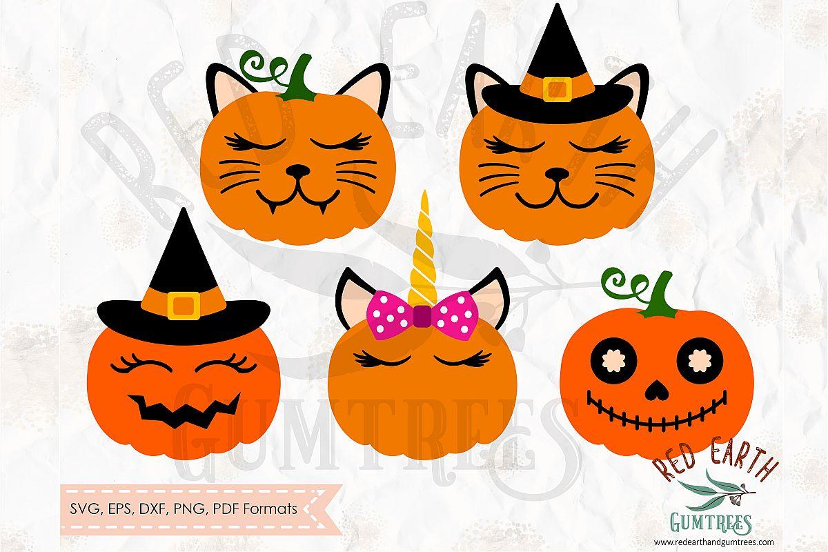pumpkin faces bundle cute pumpkins in svg dxf png eps pdf