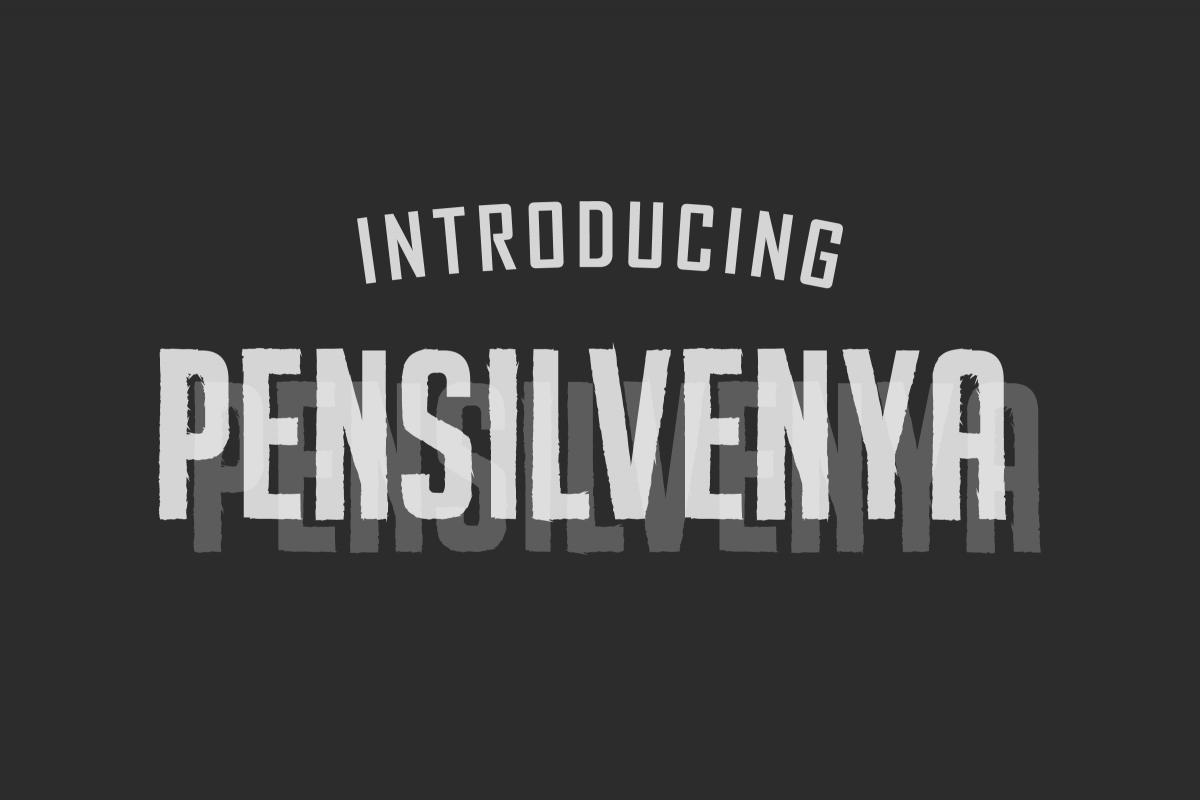 Pensilvenya |Dirty Sans example image 1