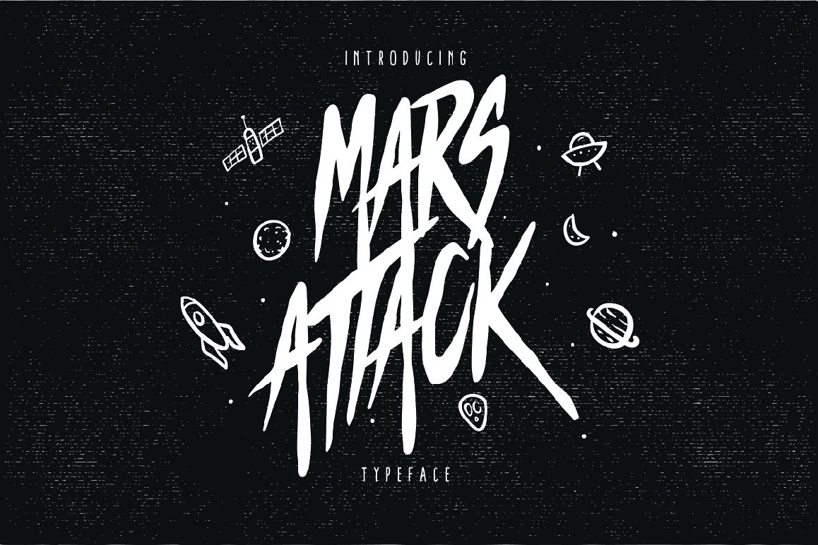 Mars Attack Typeface example image 1