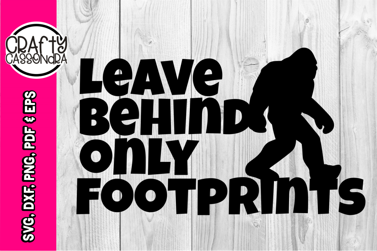 Bigfoot svg - bigfoot silhouette - Sasquatch - Leave behind example image 1