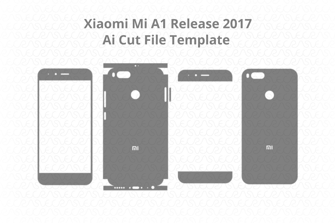 xiaomi mi a1 vinyl skin vector cut file design bundles