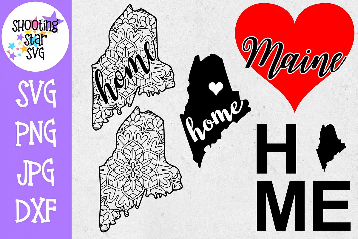 Maine US State SVG Decal Bundle - 50 States SVG example image 1