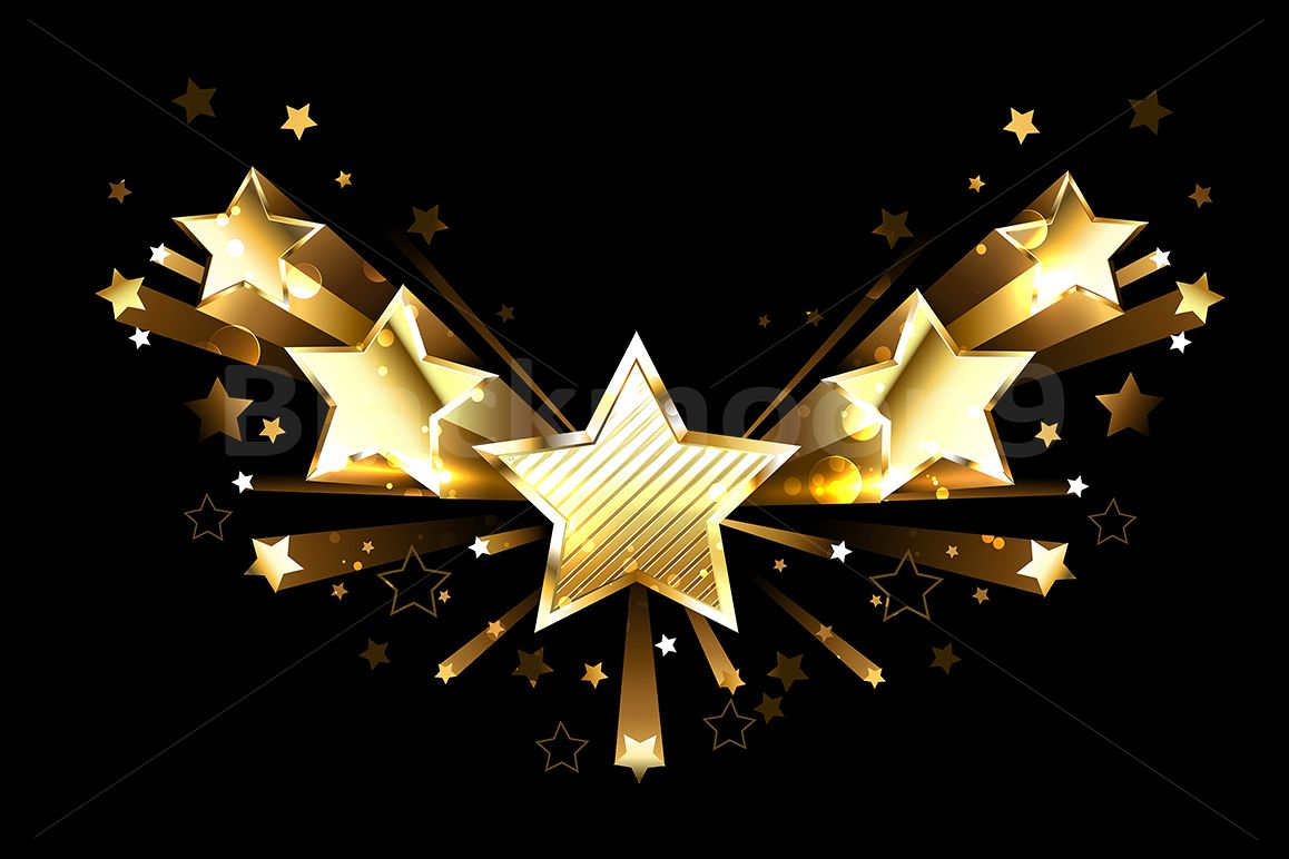Sparkling Gold Five Stars example image 1