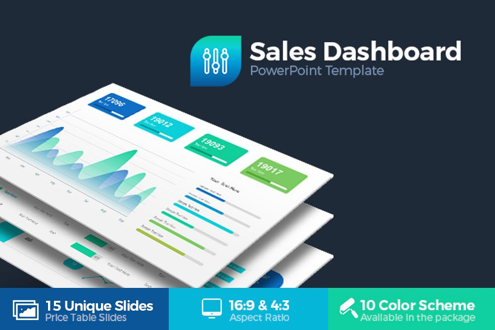 sales dashboard powerpoint