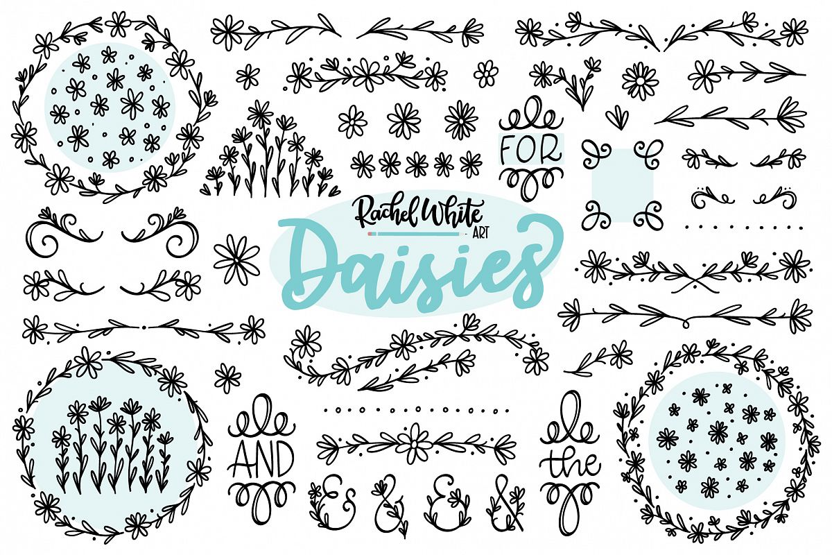 Daisies, Vector, PNG, SVG example image 1