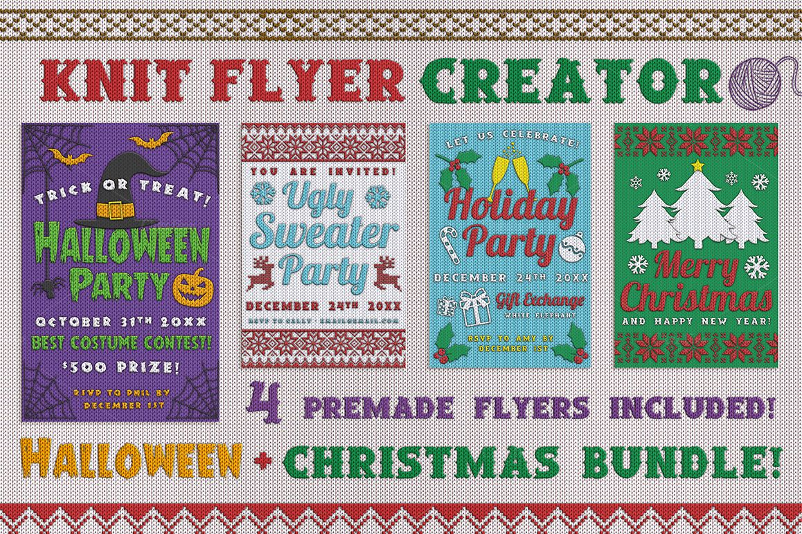 Christmas Knit Flyer Text Effect Creator example image 1