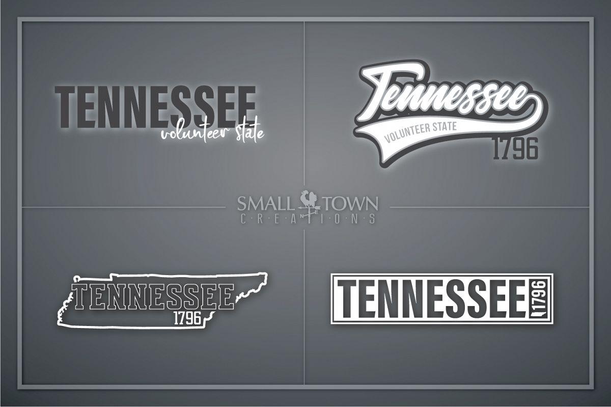 Tennessee, Volunteer State - slogan, PRINT, CUT & DESIGN example image 1