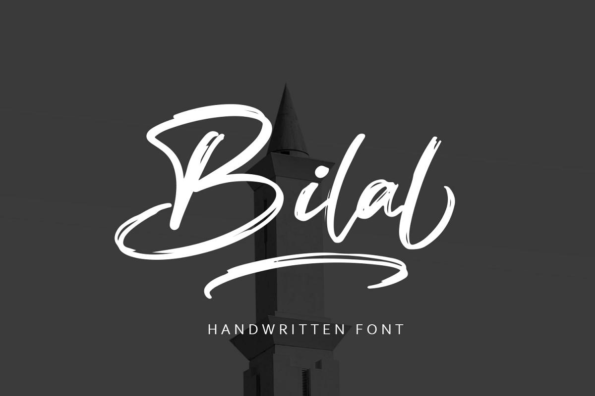 Bilal Brush Font example image 1