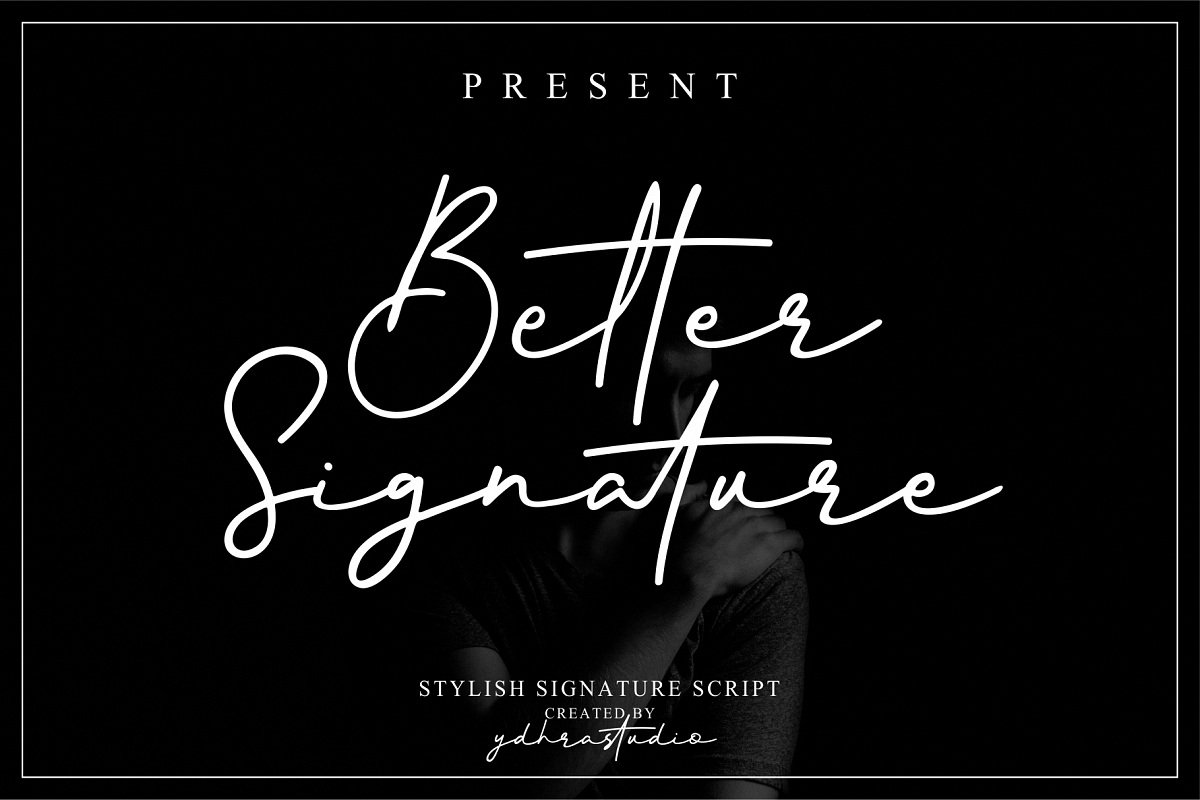 Better Signature Font example image 1
