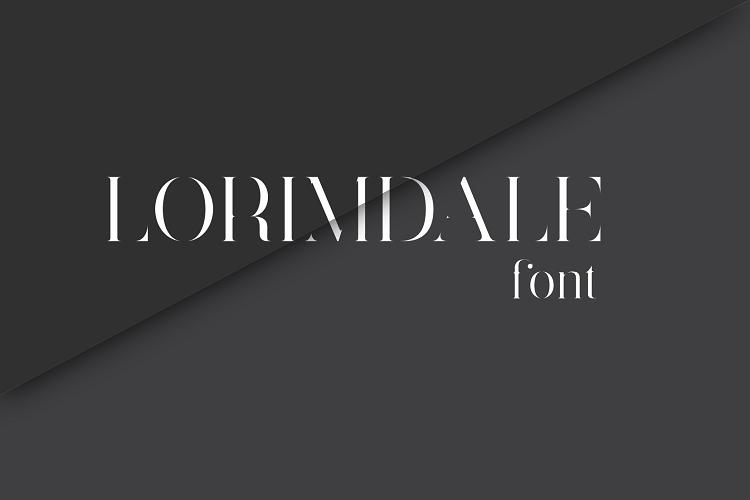 Lorimdale font example image 1
