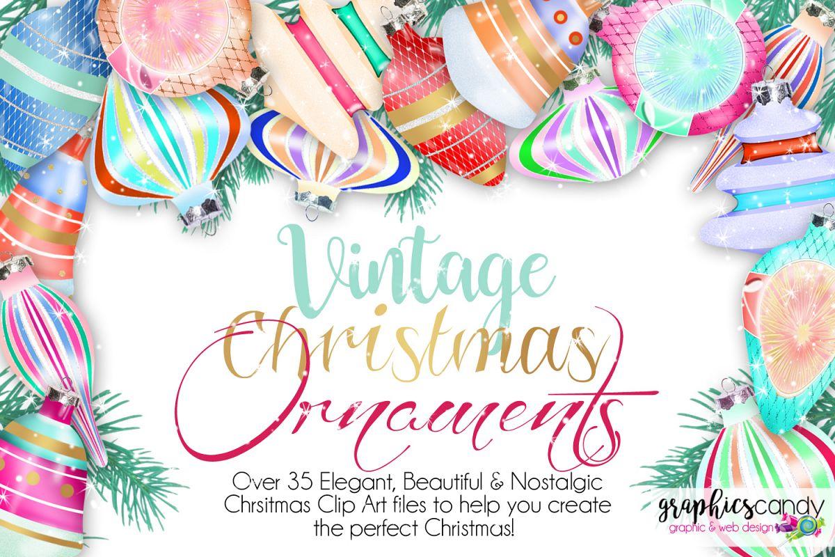 Vintage Christmas Ornament Clip Art example image 1