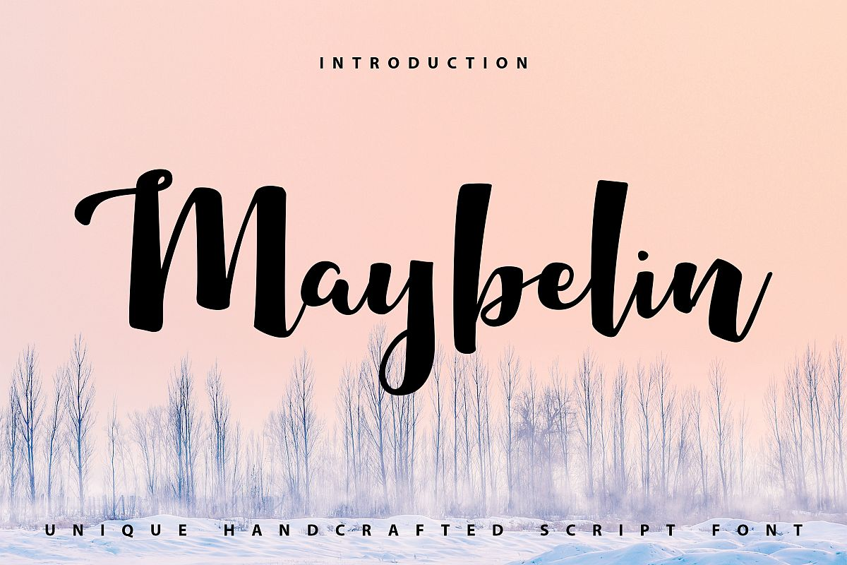 Maybelin | Unique Handcrafted Script Font example image 1