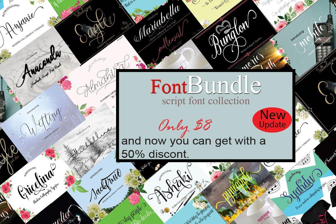FontBundle script font collection example image 1