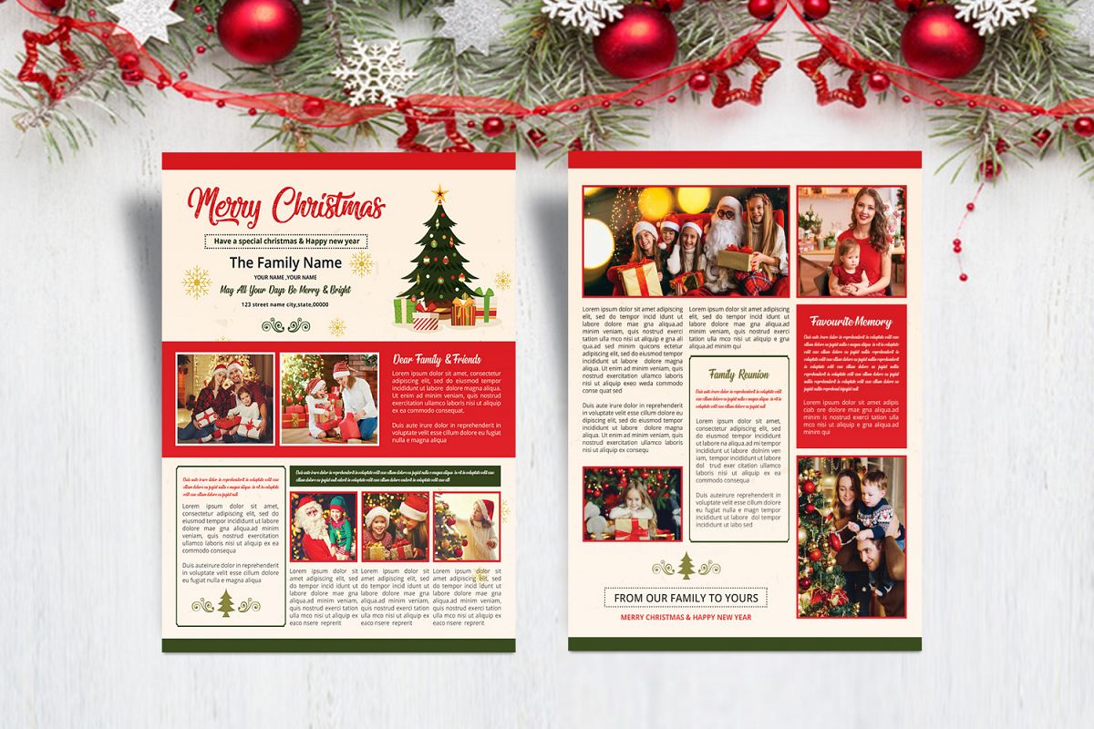 Christmas Newsletter Template example image 1