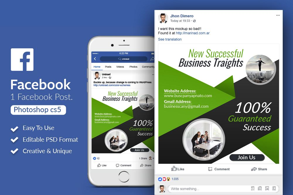 Corporate Business Facebook Post Banners example image 1