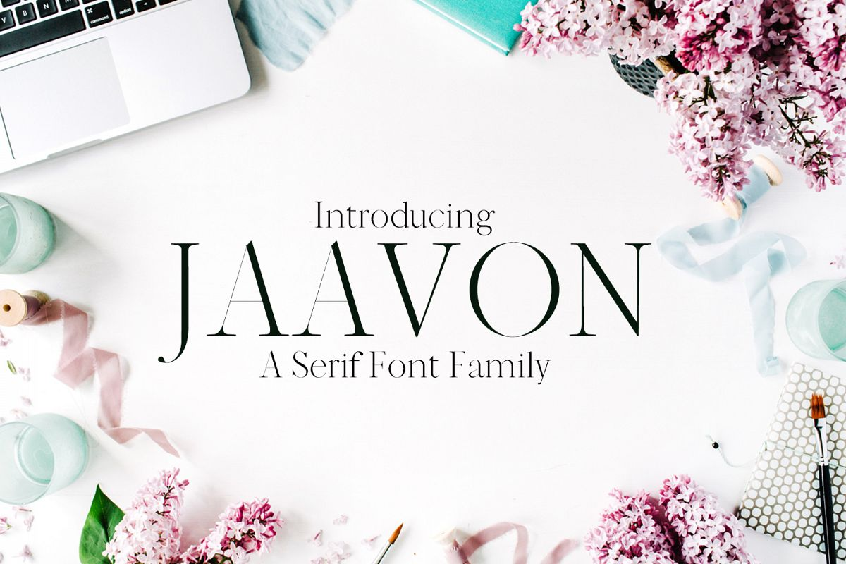Jaavon Serif Font Family example image 1