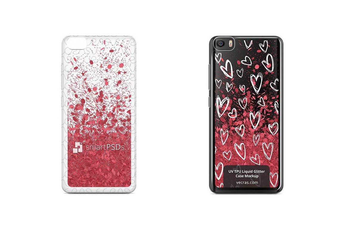 Xiaomi Mi5 UV TPU Liquid Glitter Case Design Mock-up example image 1