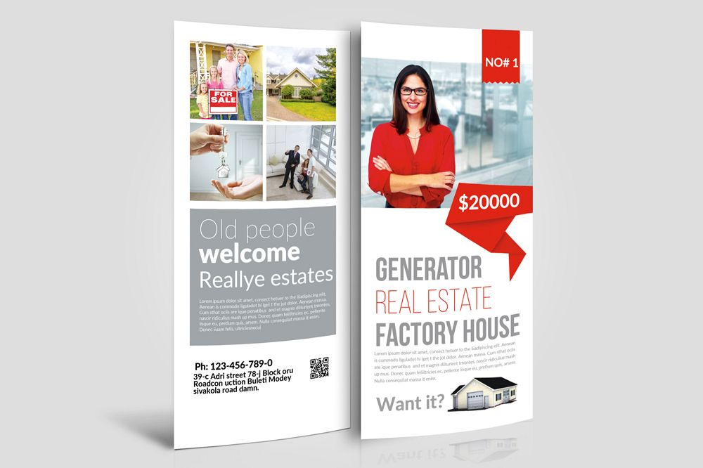 Real Estate Rack Card Template example image 1