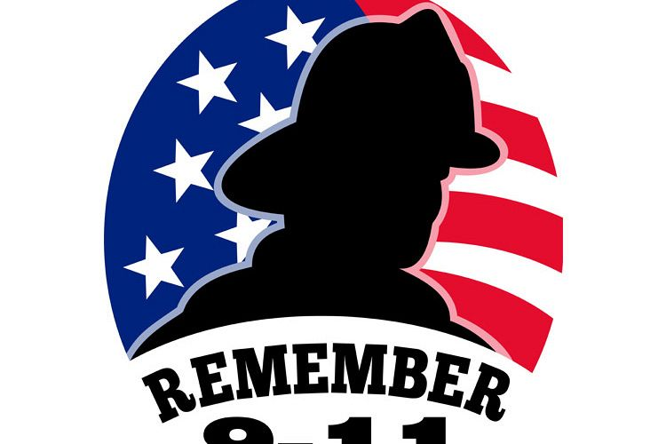 9-11 fireman firefighter american flag example image 1