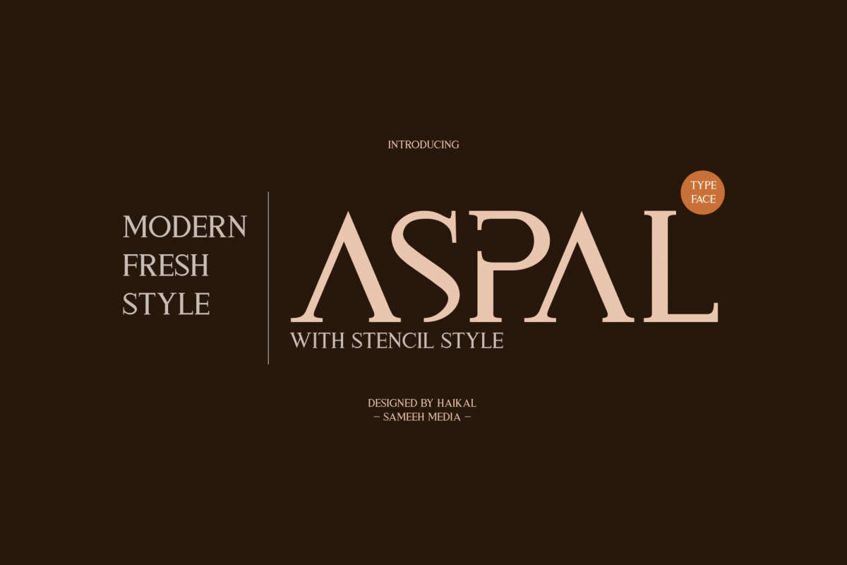 Aspal Typeface Font example image 1