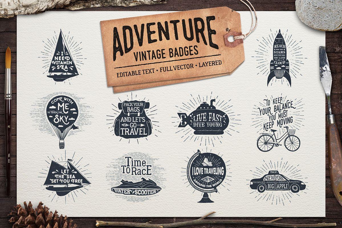 Adventure Vintage Badges (part 2) example image 1