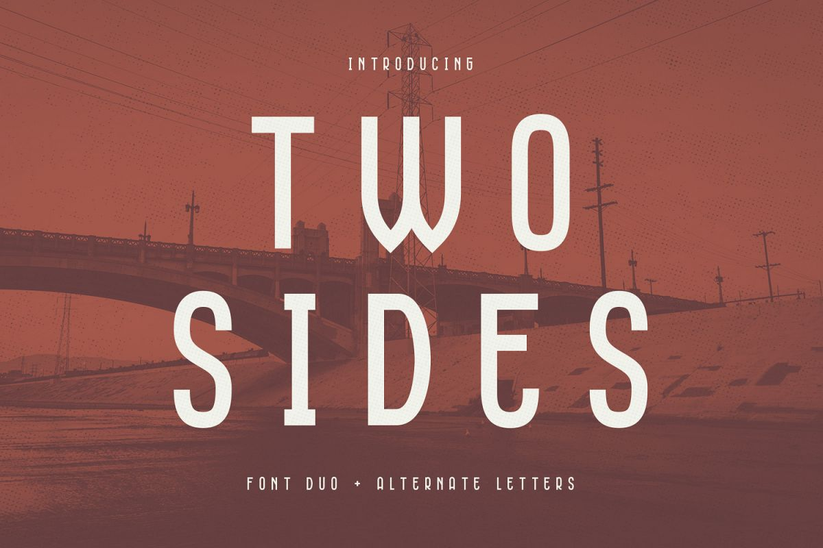 Two Sides - Font Duo example image 1